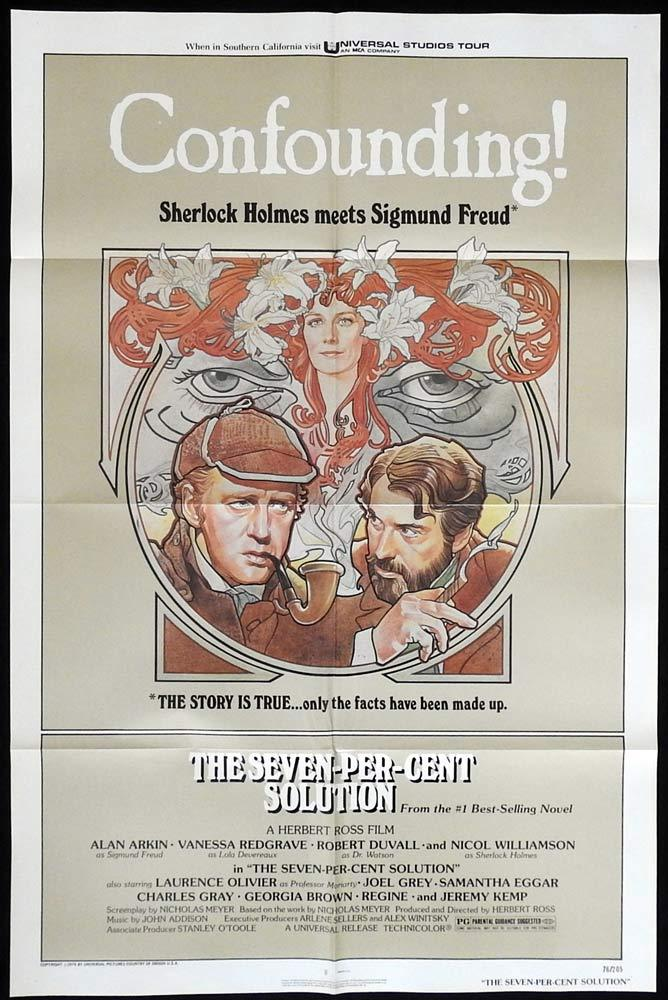 THE SEVEN PER CENT SOLUTION Original One sheet Movie poster Sherlock Holmes Alan Arkin