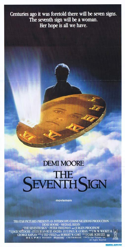THE SEVENTH SIGN Original Daybill Movie Poster Demi Moore