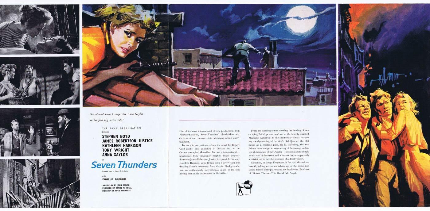 SEVEN THUNDERS Original Movie Trade Ad James Robertson Justice