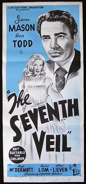 THE SEVENTH VEIL '45-James Mason-Ann Todd RARE poster