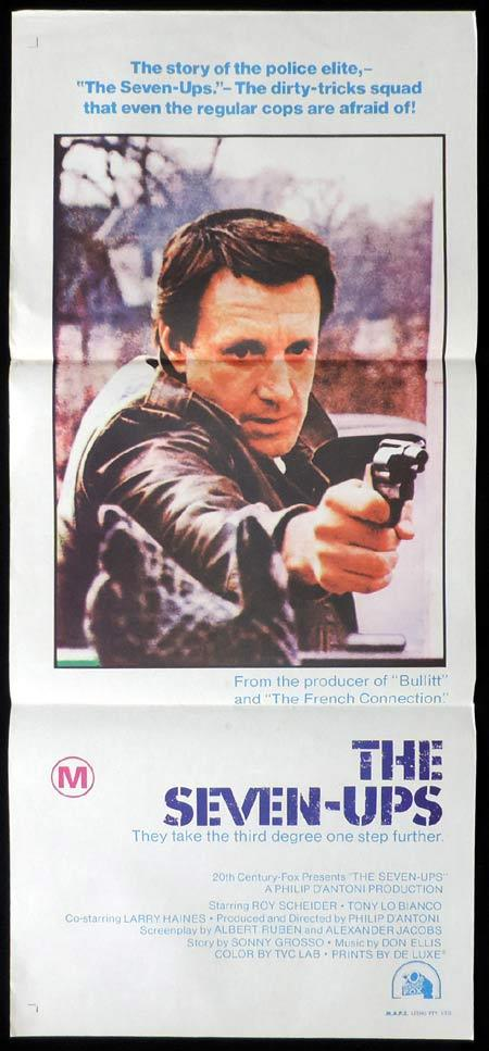THE SEVEN UPS Original Daybill Movie Poster Roy Scheider