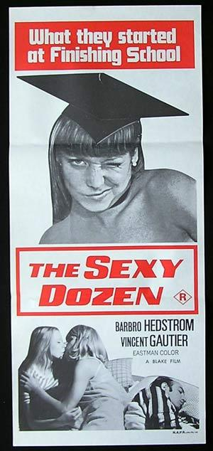 THE SEXY DOZEN '69-Norbert Terry-SEXPLOITATION-poster RED
