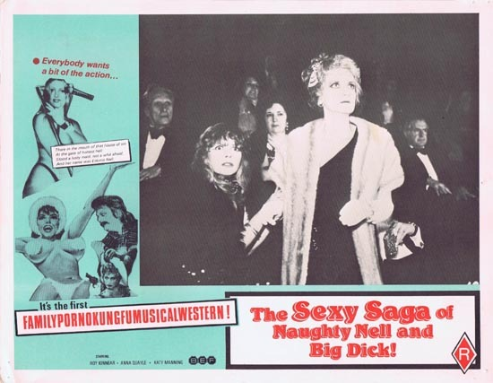 Eskimo Nell, Ballad of Eskimo Nell, The Sexy Saga of Naughty Nell and Big Dick, Movie poster, Lobby Card, Martin Campbell, Christopher Biggins, Mary Millington, Roy Kinnear, Katy Manning, Christopher Timothy, Diane Langton, Beth Porter, Lloyd Lamble, Michael Armstrong