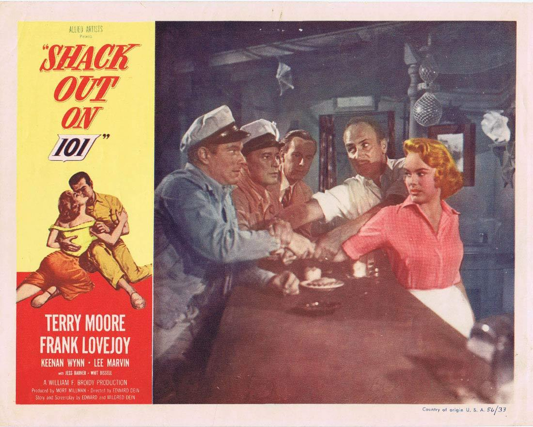 SHACK OUT ON 101 Lobby card 2 Terry Moore FIlm Noir