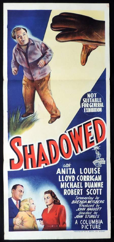 SHADOWED Original Daybill Movie Poster Anita Louise Film Noir