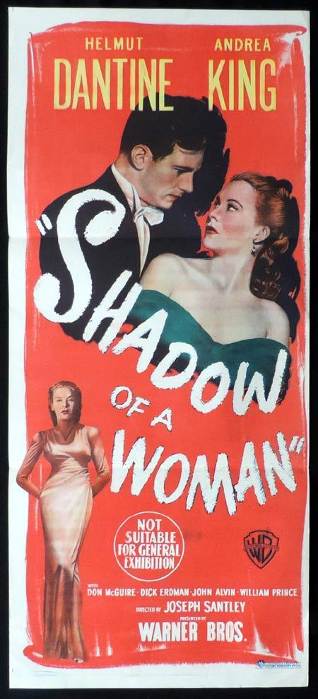 SHADOW OF A WOMAN Original Daybill Movie Poster Helmut Dantine Film Noir