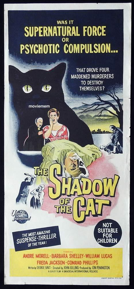 SHADOW OF THE CAT Original Daybill Movie Poster André Morell Barbara Shelley