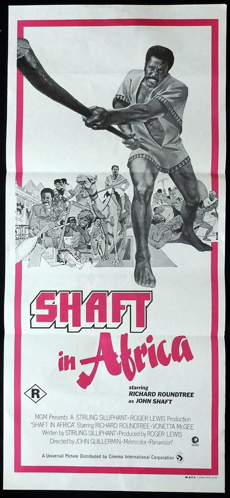 SHAFT IN AFRICA Original Daybill Movie Poster Richard Roundtree Frank Finlay