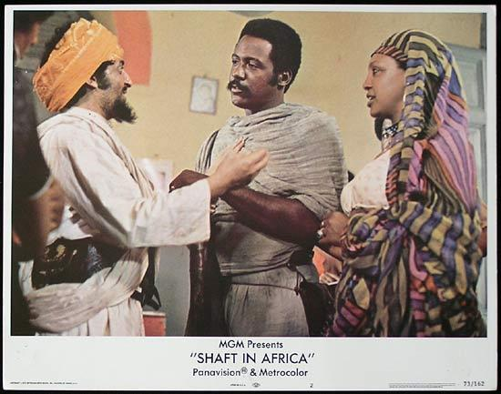 SHAFT IN AFRICA 1973 Richard Roundtree BLAXPLOITATION Lobby card #2