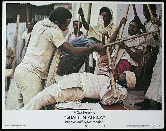 SHAFT IN AFRICA 1973 Richard Roundtree BLAXPLOITATION Lobby card #7