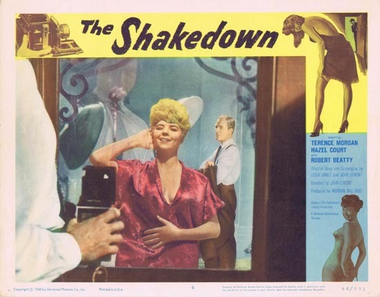 THE SHAKEDOWN 1960 Hazel Court Film Noir Lobby Card 6