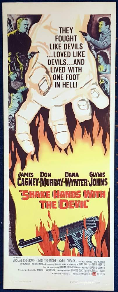 SHAKE HANDS WITH THE DEVIL Original US Insert Movie Poster James Cagney