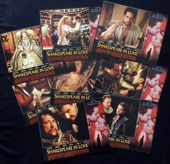 SHAKESPEARE IN LOVE Lobby Card Set Gwyneth Paltrow Geoffrey Rush