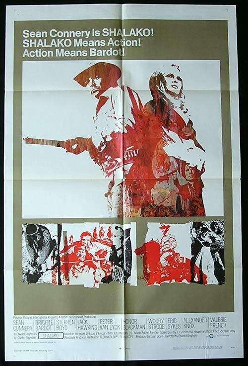 SHALAKO Original One sheet Movie poster Brigitte Bardot Sean Connery