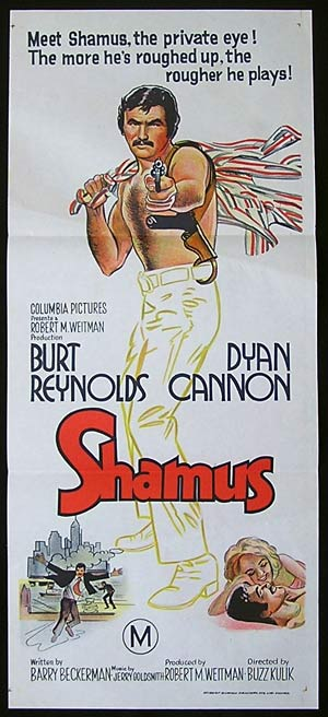 SHAMUS Original Daybill Movie poster Burt Reynolds Dyan Cannon