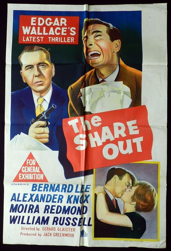 THE SHARE OUT One Sheet Movie Poster Edgar Wallace