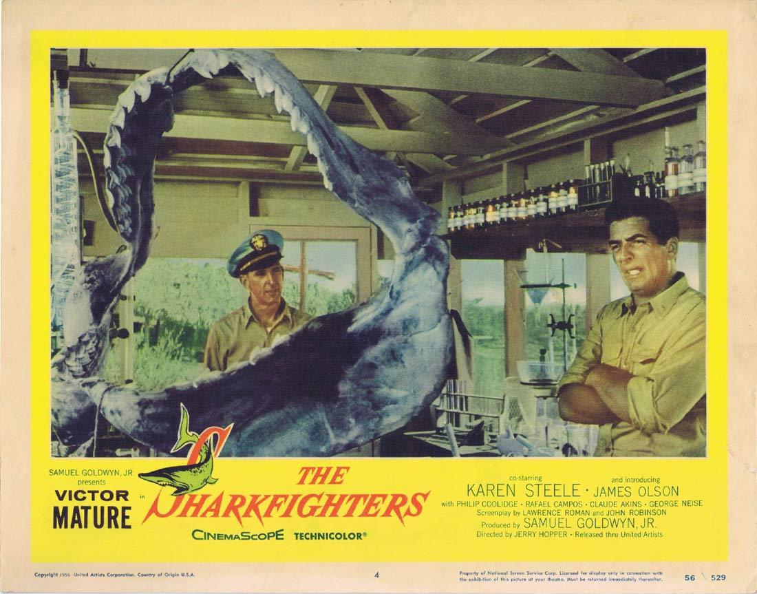 THE SHARKFIGHTERS Original Lobby Card 4 Victor Mature Karen Steele