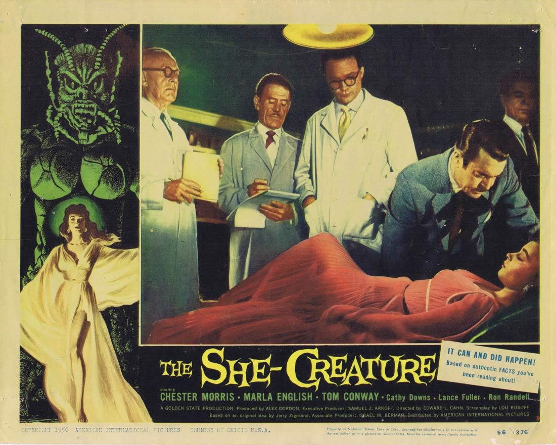 THE SHE CREATURE Lobby Card 3 Chester Morris Marla English Sci FI