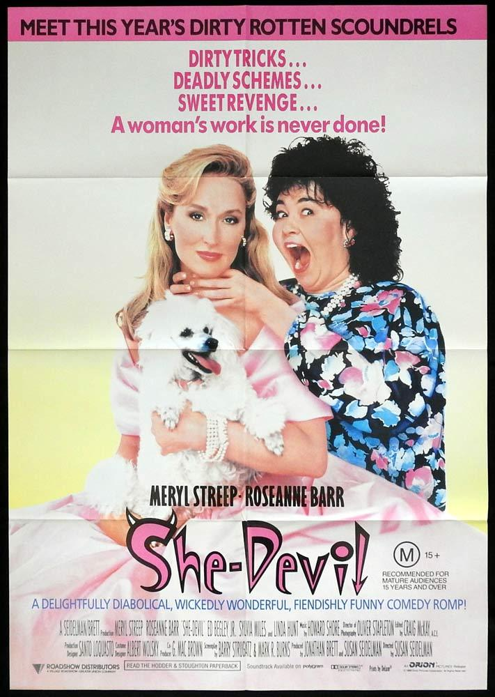 SHE DEVIL Original One sheet Movie poster Meryl Streep Roseanne Barr