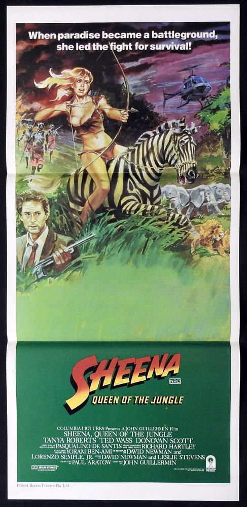SHEENA QUEEN OF THE JUNGLE Daybill Movie Poster Tanya Roberts