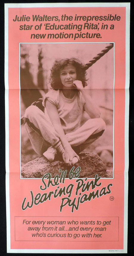 SHE'LL BE WEARING PINK PAJAMAS Australian Daybill Movie poster Julie Walters