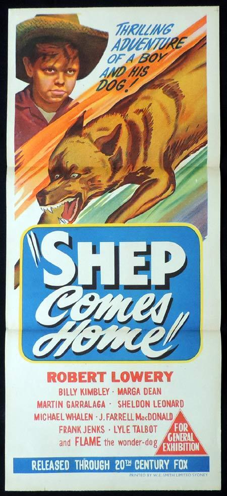 SHEP COMES HOME Original Daybill Movie Poster