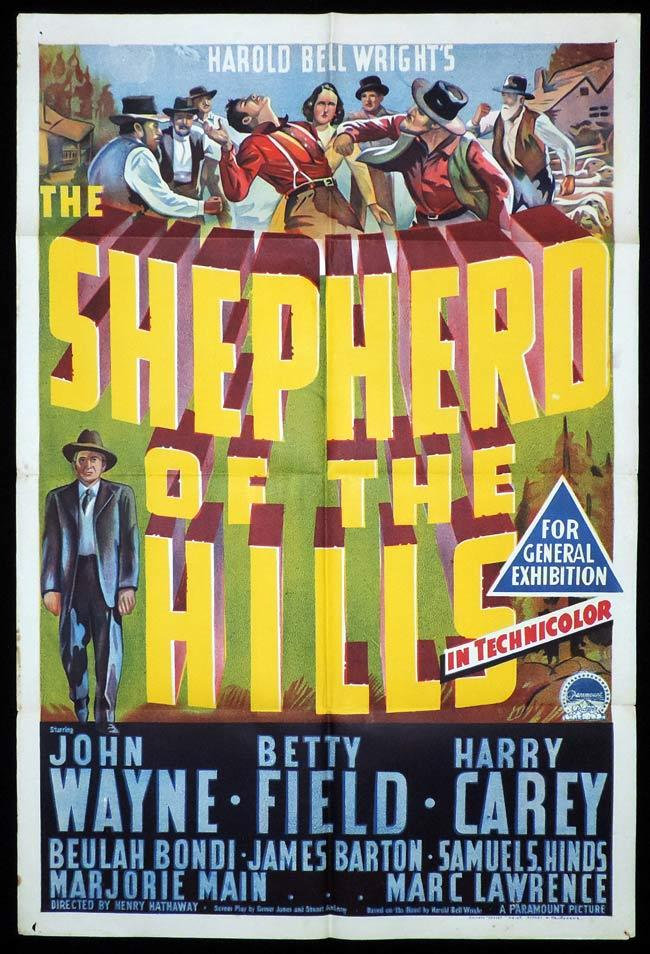 THE SHEPHERD OF THE HILLS One Sheet Movie Poster John Wayne