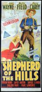 SHEPHERD OF THE HILLS Original Daybill Movie Poster John Wayne