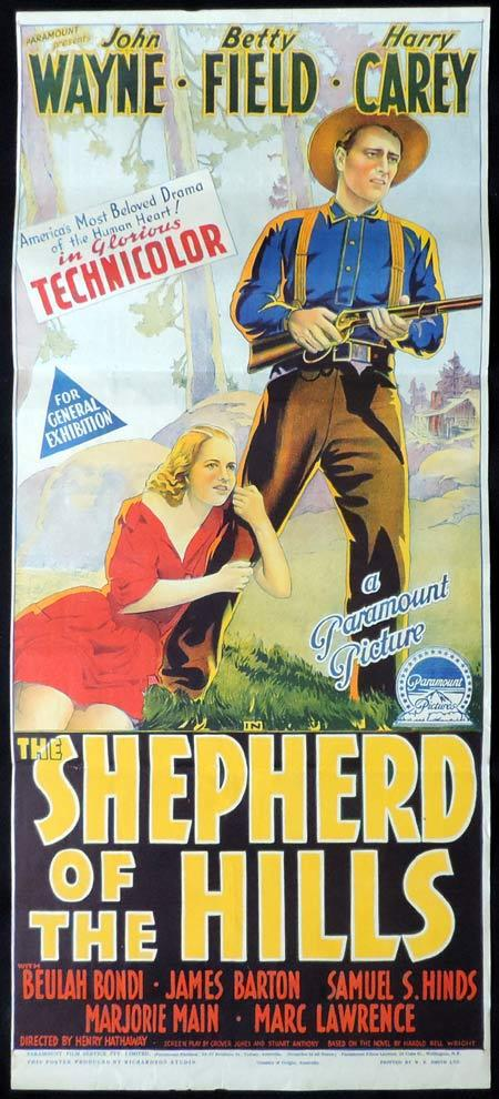 SHEPHERD OF THE HILLS Original Daybill Movie Poster John Wayne