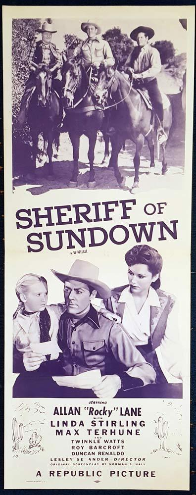 SHERRIFF OF SUNDOWN Movie Poster Richard Arlen US Insert