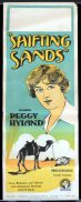 SHIFTING SANDS 1923 Peggy Hyland SILENT CINEMA Vintage Long Daybill Movie Poster