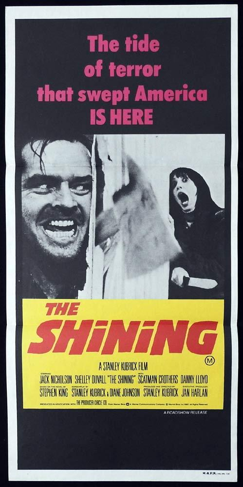 THE SHINING Original daybill Movie poster Jack Nicholson Stanley Kubrick