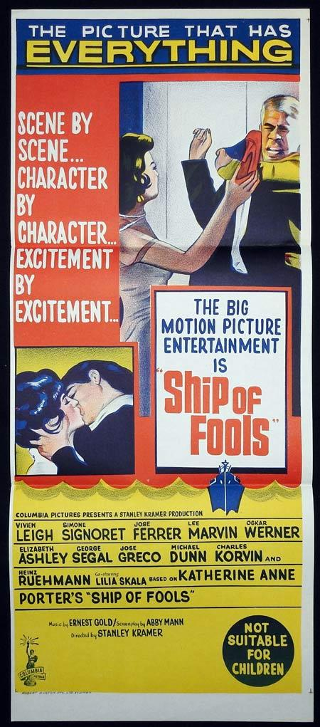 SHIP OF FOOLS Original Daybill Movie Poster Vivien Leigh José Ferrer Lee Marvin
