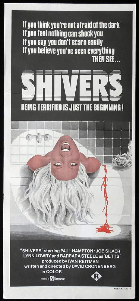 SHIVERS Original Daybill Movie Poster David Cronenberg Horror