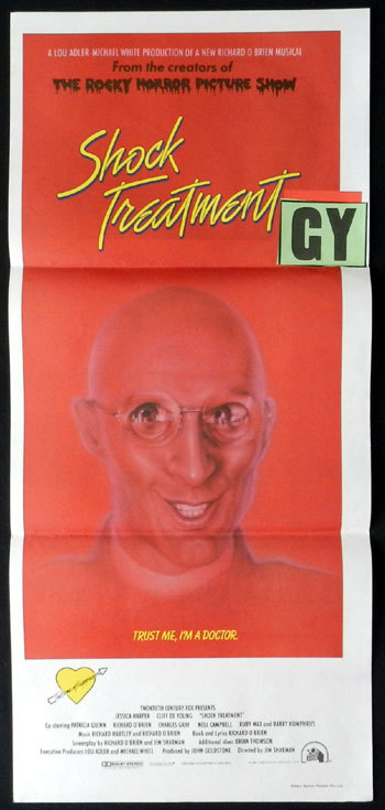 SHOCK TREATMENT 1981 Rocky Horror Daybill Movie Poster
