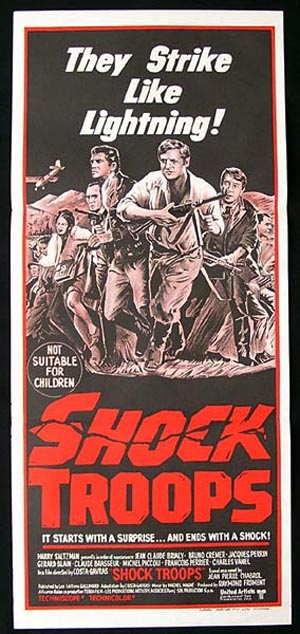 SHOCK TROOPS Original Daybill Movie poster Charles Vanel Costa-Gavras