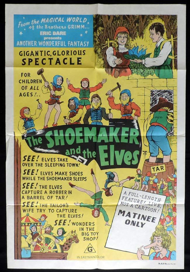 THE SHOEMAKER AND THE ELVES One Sheet Movie Poster Eric Kobler German Fantasy Film