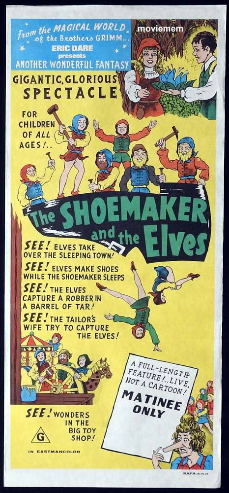 THE SHOEMAKER AND THE ELVES Original Daybill Movie poster German Fantasy Film