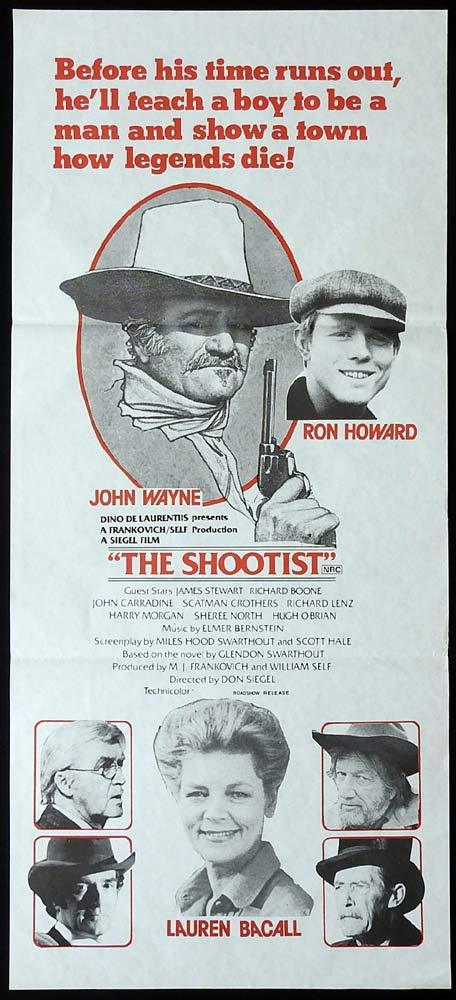 THE SHOOTIST Original Daybill Movie Poster John Wayne Lauren Bacall