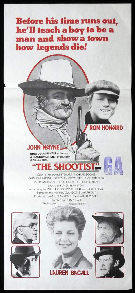 The Shootist, Don Siegel, John Wayne, Lauren Bacall, Ron Howard, James Stewart, Richard Boone, John Carradine, Scatman Crothers, Richard Lenz, Harry Morgan, Sheree North, Hugh O'Brian
