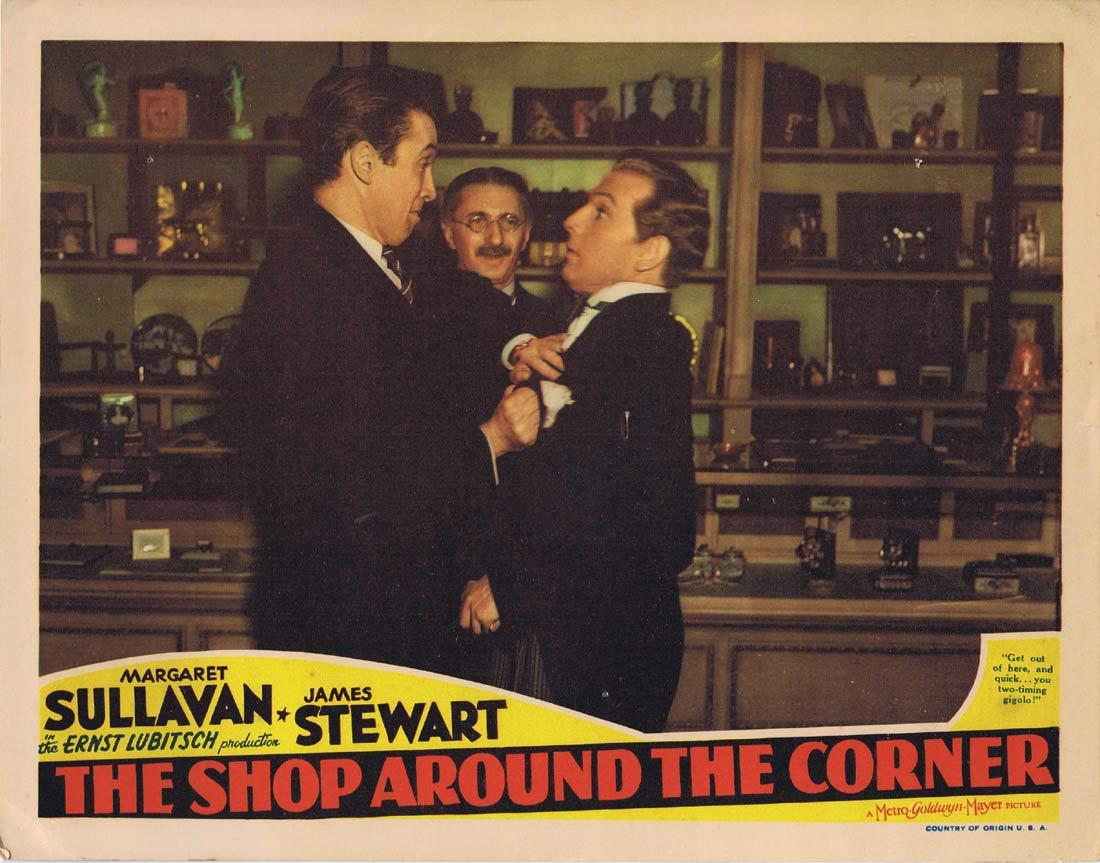 THE SHOP AROUND THE CORNER Original Lobby Card Margaret Sullavan James Stewart Frank Morgan