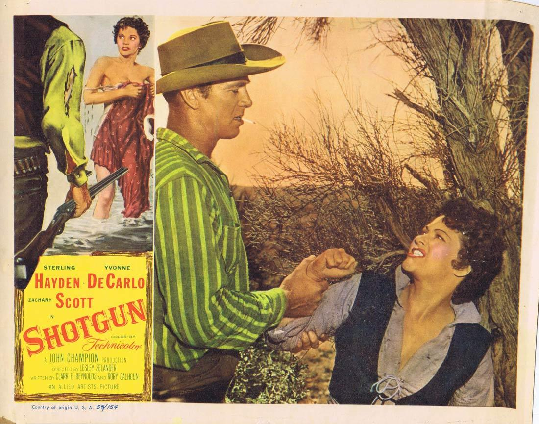 SHOTGUN Lobby Card 2 Sterling Hayden Yvonne De Carlo Zachary Scott