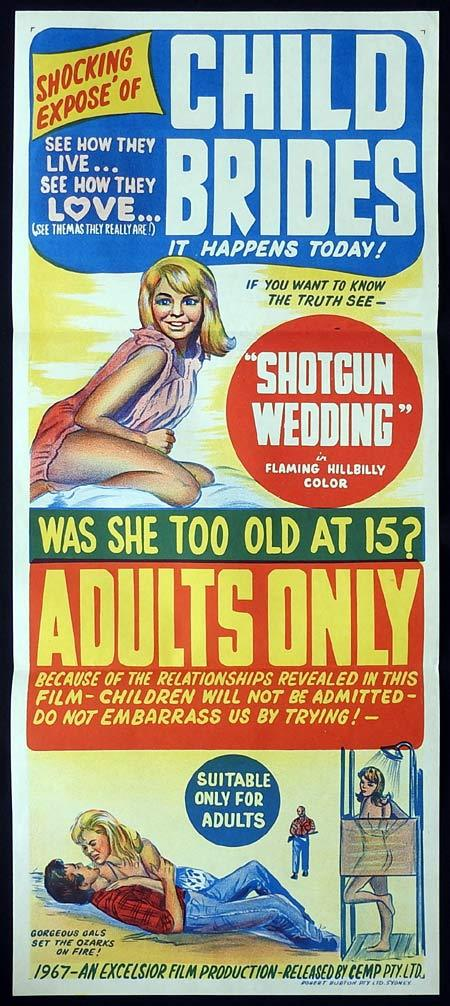 SHOTGUN WEDDING Original Daybill Movie poster Ed Wood Child Brides