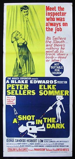 A SHOT IN THE DARK Daybill Movie poster Peter Sellers Elke Sommer