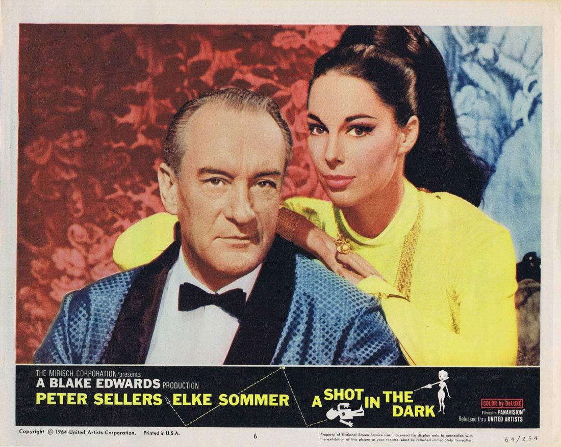 A SHOT IN THE DARK Vintage Lobby Card 6 Pink Panther George Sanders
