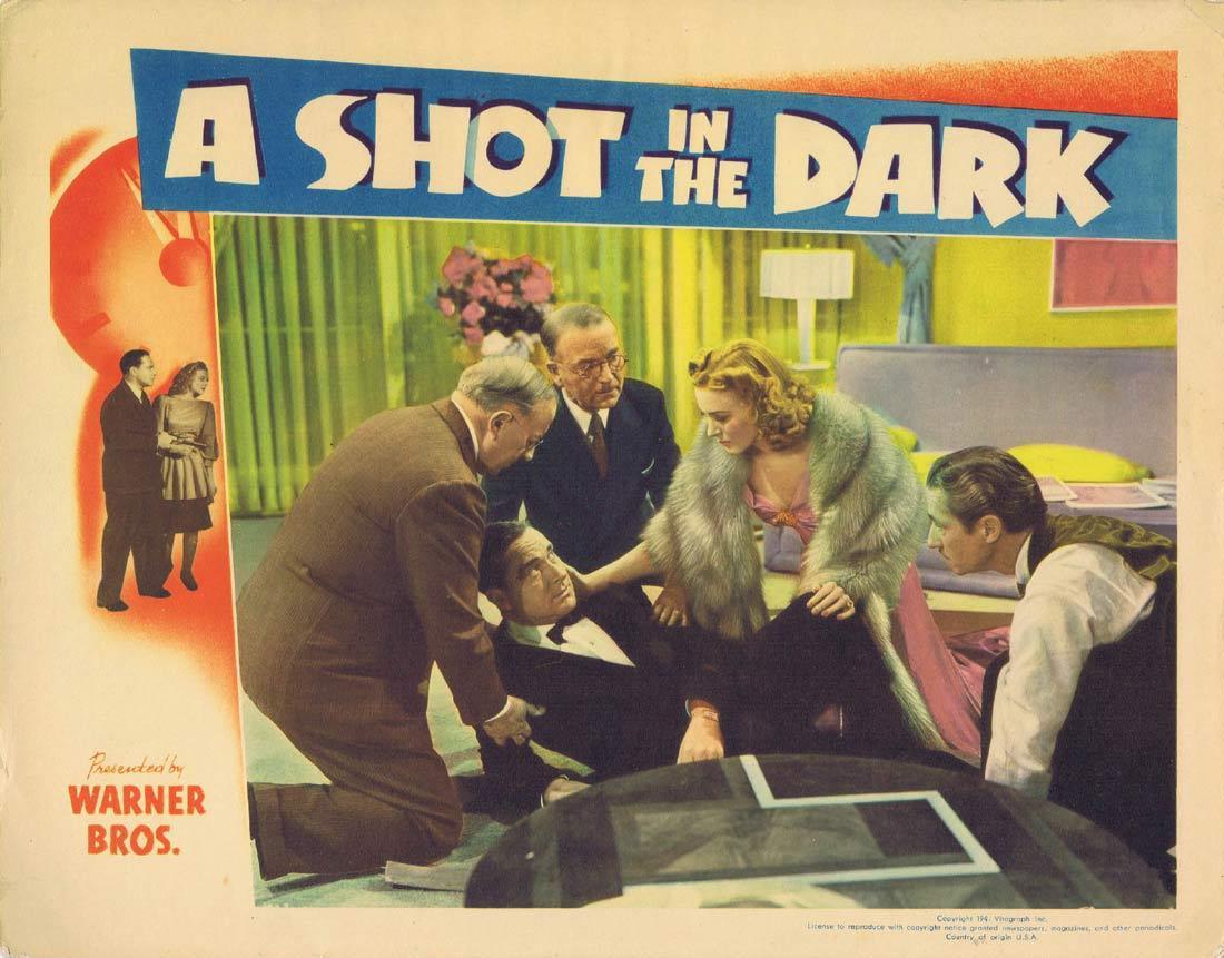 A SHOT IN THE DARK Lobby card 2 William Lundigan Nan Wynn Ricardo Cortez