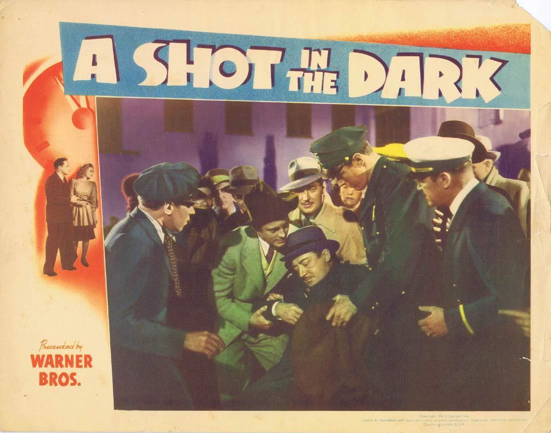 A SHOT IN THE DARK Lobby card 3 William Lundigan Nan Wynn Ricardo Cortez