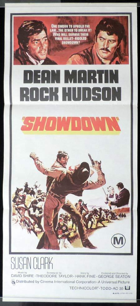 SHOWDOWN Daybill Movie Poster Rock Hudson Dean Martin