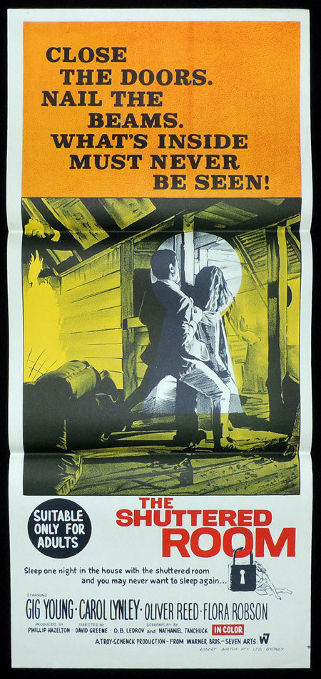 THE SHUTTERED ROOM Original Daybill Movie poster GIG YOUNG Horror