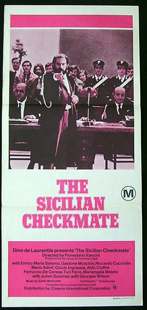 THE SICILIAN CHECKMATE '72-Florestano Vancini poster
